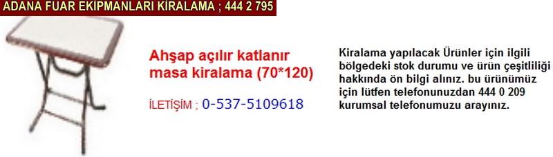 Adana ahşap açılır katlanır masa kiralama firması iletişim ; 0 505 394 29 32