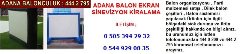 Adana balon ekran sinevizyon kiralama firması iletişim ; 0 544 929 08 35