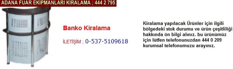 Adana banko kiralama firması iletişim ; 0 505 394 29 32