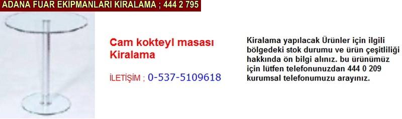 Adana cam kokteyl masası kiralama firması iletişim ; 0 505 394 29 32