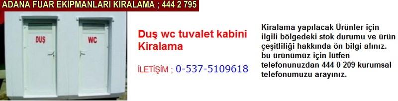 Adana duş wc tuvalet kabini kiralama firması iletişim ; 0 505 394 29 32