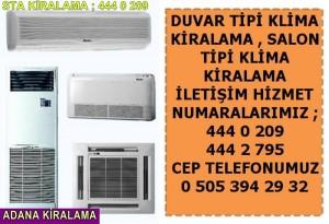 Adana duvar salon tipi klima kiralama fiyatları