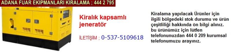 Adana kiralık kapsamlı jeneratör firması iletişim ; 0 505 394 29 32