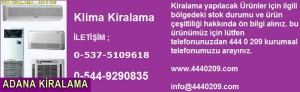Adana kiralik-klima-modelleri-cesitleri