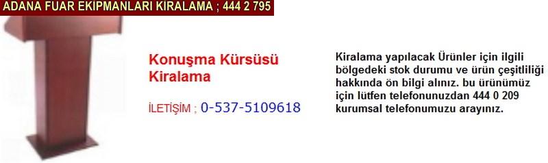 Adana konuşma kürsüsü kiralama firması iletişim ; 0 505 394 29 32