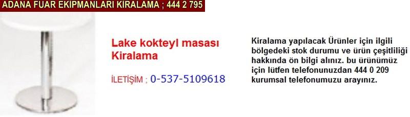 Adana lake kokteyl masası kiralama firması iletişim ; 0 505 394 29 32