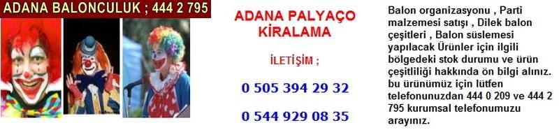 Adana palyaço kiralama firması iletişim ; 0 544 929 08 35