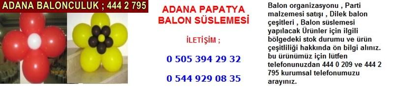 Adana papatya balon süslemesi firması iletişim ; 0 544 929 08 35