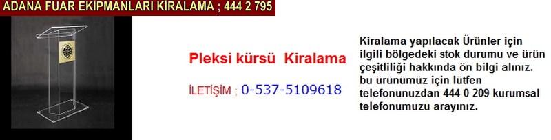 Adana pleksi kürsü kiralama firması iletişim ; 0 505 394 29 32