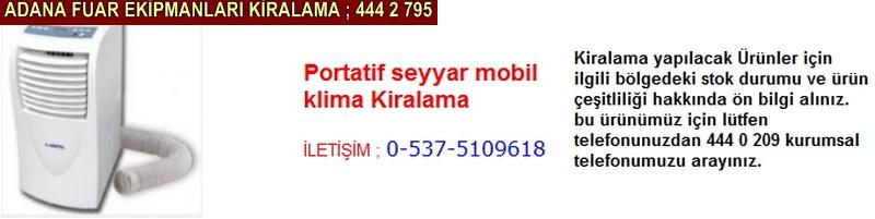 Adana portatif seyyar mobil klima kiralama firması iletişim ; 0 505 394 29 32