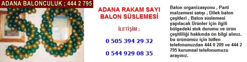 Adana rakam sayı balon süslemesi firması iletişim ; 0 544 929 08 35