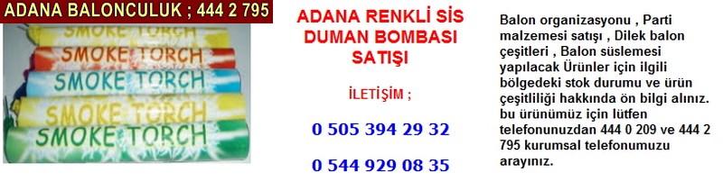 Adana renkli sis duman bombası satışı firması iletişim ; 0 544 929 08 35