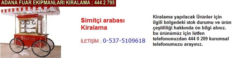 Adana simitçi arabası kiralama firması iletişim ; 0 505 394 29 32