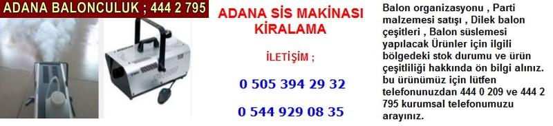 Adana sis makinası kiralama firması iletişim ; 0 544 929 08 35