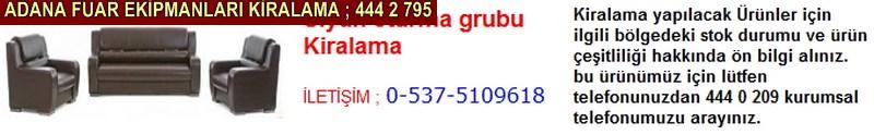 Adana siyah oturma grubu kiralama firması iletişim ; 0 505 394 29 32