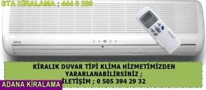 Adana sta Kiralama duvar tipi klima