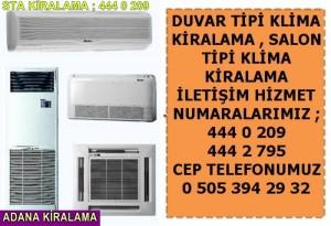Adana sta duvar salon tipi klima kiralama fiyatları